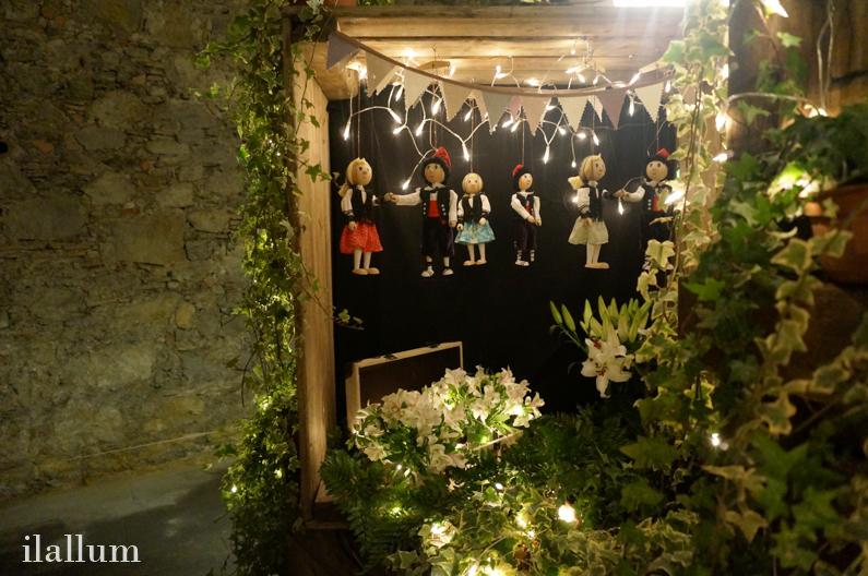 marionetas y flores