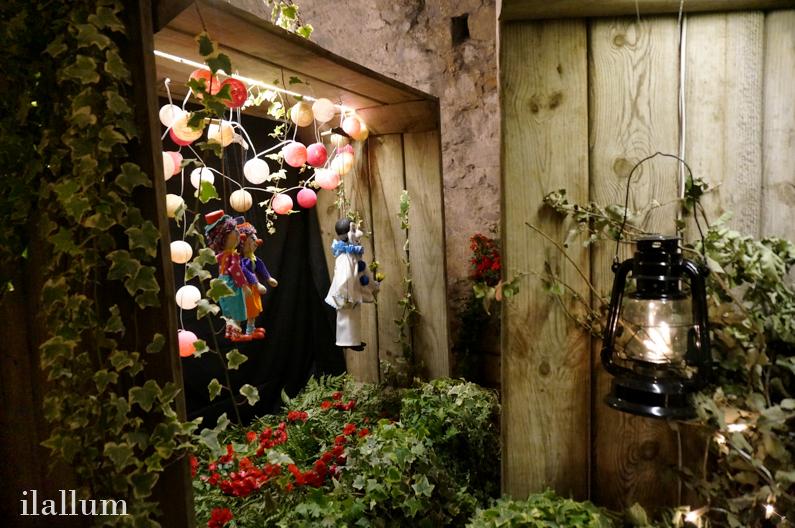 iluminación, marionetas, flores y plantas