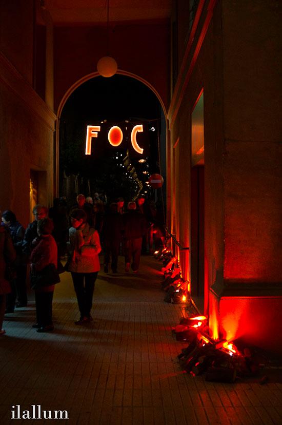 entrada a Lluèrnia de Olot, festival de luz y fuego.