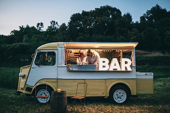 foodtrack letras luminosas bar