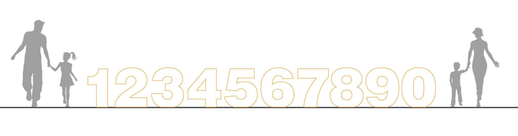 números luminosos gráfico